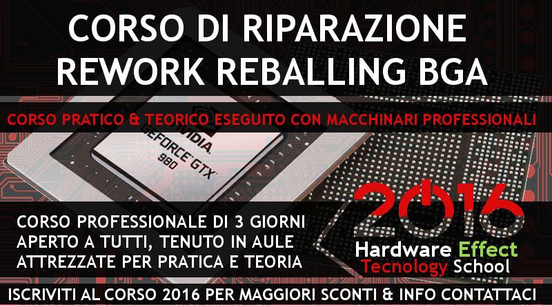 CORSO RIPARAZIONE NOTEBOOK REWORK REBALLING BGA ROMA