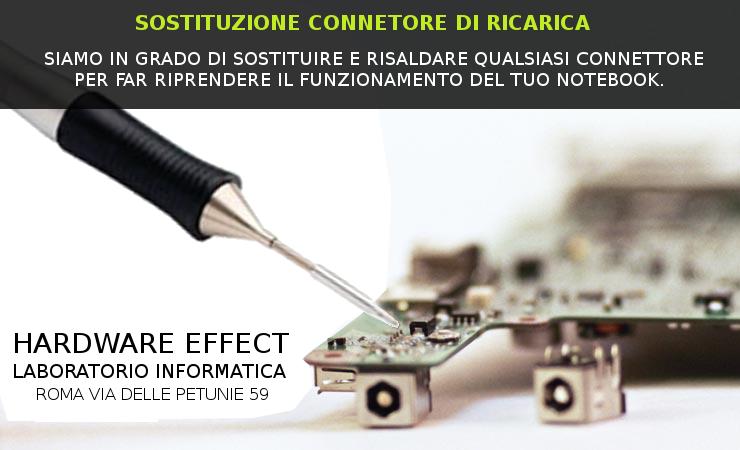 SOSTITUZIONE CONNETTORE JACK DI RICARICA A ROMA