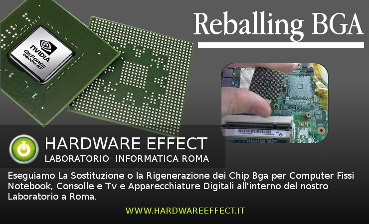 Sostituzione Reballing Chip BGA Scheda Video E NorthBridge.