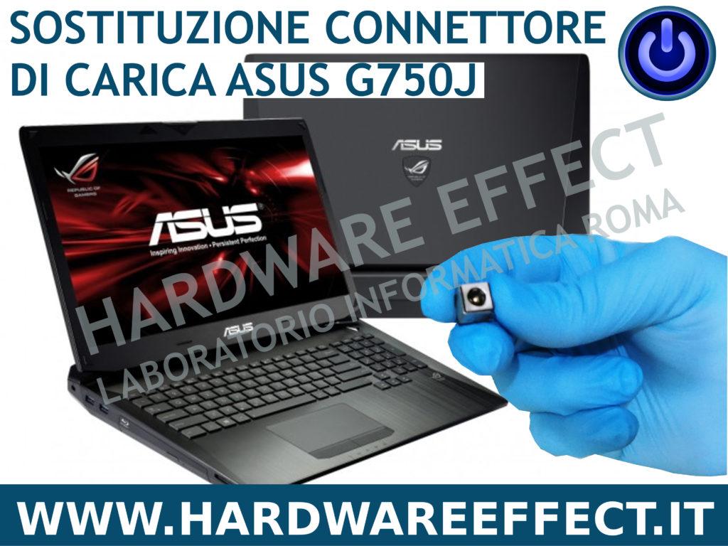 ASUS G750J sostituzione connettore di ricarica